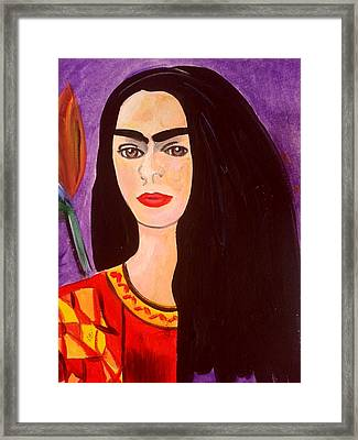 Frida Kahlo Young Framed Print