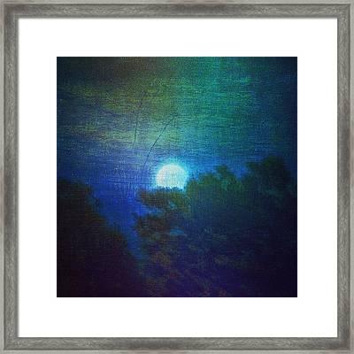 Friday 6/13/14 Full Moon - The Honey Framed Print by Paul Cutright