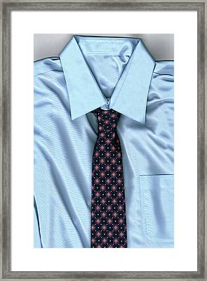 Friday Morning - Men's Fashion Art By Sharon Cummings Framed Print