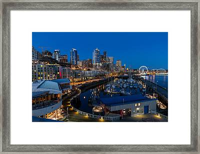 Friday Night In Seattle Framed Print