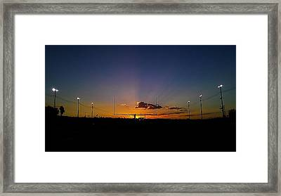 Framed Print featuring the photograph Friday Night Lights by Chris Tarpening