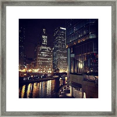 Friday Night Framed Print by Mike Maher