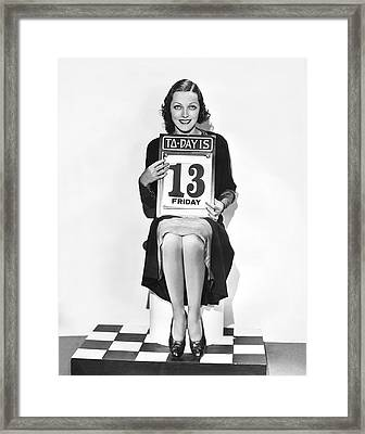 Friday The 13th Alert Framed Print