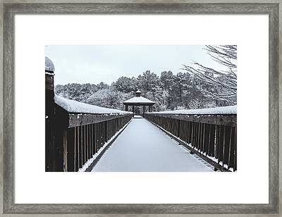 Fridged Pathway Framed Print