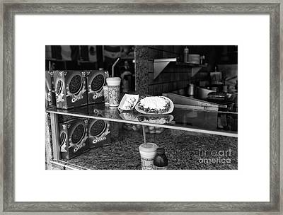 Fried Dough At Seaside Heights Mono Framed Print by John Rizzuto