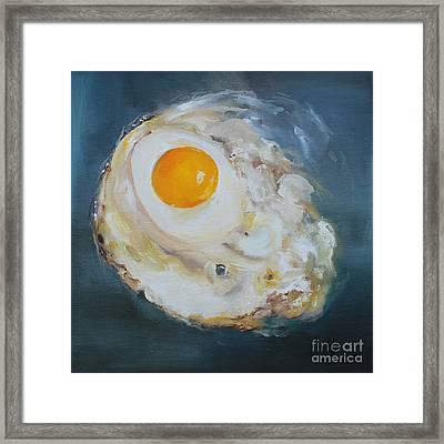 Fried Egg Framed Print by Kristine Kainer