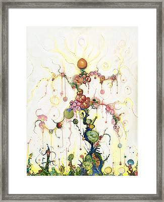 Fried Pink Tomatoes Framed Print