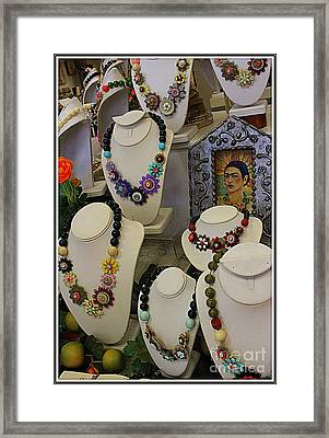 Frieda Kahlo And Jewelry She Inspired Framed Print