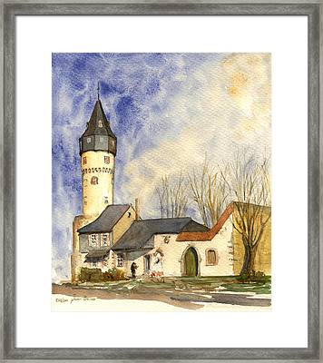 Friedberger Warte Frankfurt Framed Print by Juan  Bosco