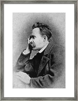 Friedrich Nietzsche(1844-1900) Framed Print by Granger