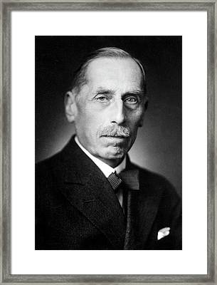 Friedrich Paschen Framed Print by Emilio Segre Visual Archives/american Institute Of Physics