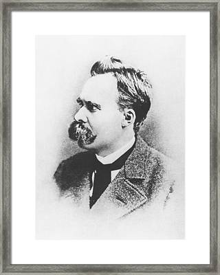 Friedrich Wilhelm Nietzsche In 1883 Framed Print by German Photographer