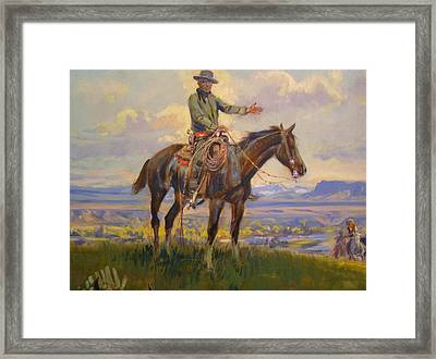 Friend Detail Framed Print by Charles Russell