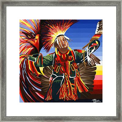 Friend From Above Framed Print by Tyrone Whitehawk
