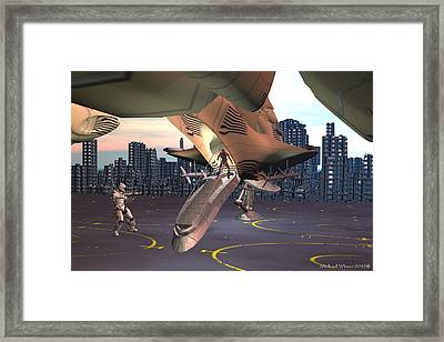 Friend Or Foe Framed Print by Michael Wimer