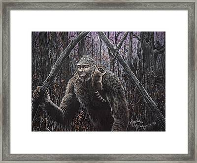 Friend Raccoon Framed Print