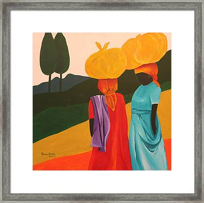 Friendly Encounter Framed Print