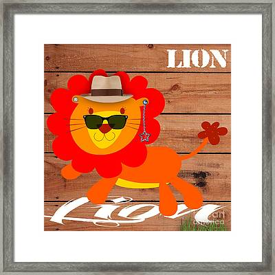 Friendly Lion Collection Framed Print by Marvin Blaine