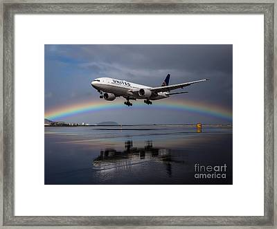 Friendly Skies Framed Print by Alex Esguerra