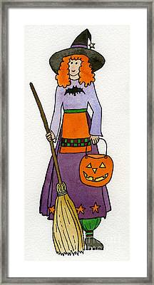 Friendly Witch Framed Print by Norma Appleton