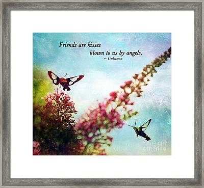 Friends Are .....  Framed Print