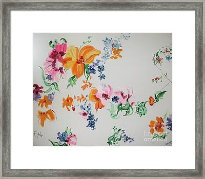 Friends Are Like Flowers Framed Print by PainterArtist FIN