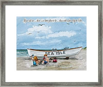 Friends By The Sea  Framed Print