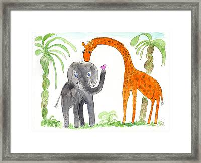 Friends - Elephoot And Elliot Framed Print