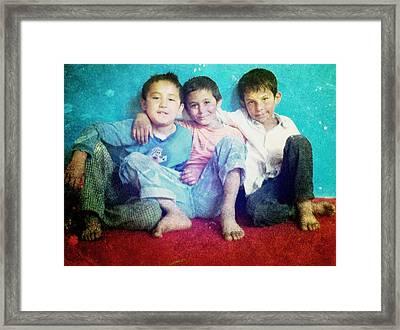 Friends Framed Print by Fareeha Khawaja