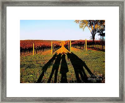 Friends For All Seasons  Framed Print by Theresa Ramos-DuVon