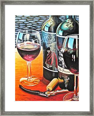 Friends From Napa Framed Print by Tim Eickmeier