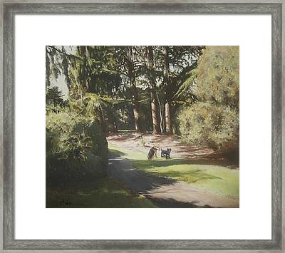 Friends Fur Ever Framed Print by Cherise Foster