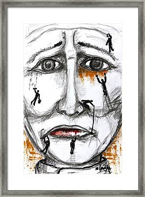 Friends In Need  Framed Print by Sladjana Lazarevic