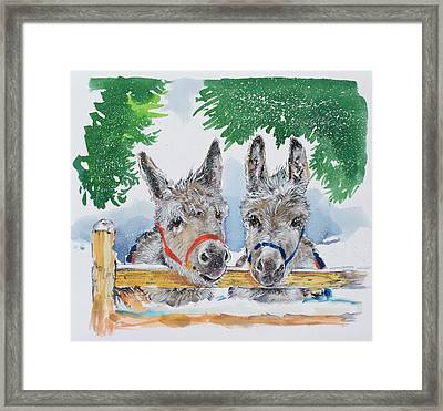 Friends In The Field Framed Print by Diane Matthes