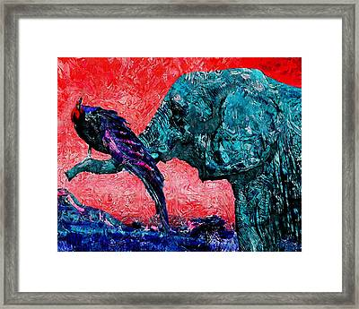 Friends Framed Print by Jack Zulli