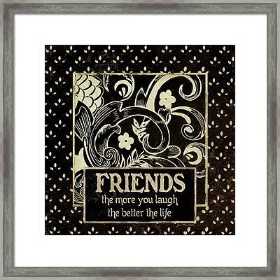 Friends Framed Print by Jo Moulton