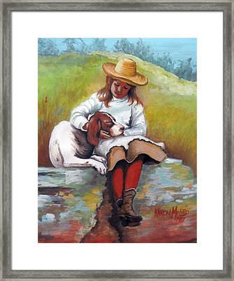Friends  Framed Print by Karon Melillo DeVega