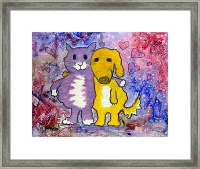 Friends Framed Print by Kenny Henson