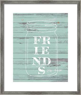 Friends Mason Jar Framed Print