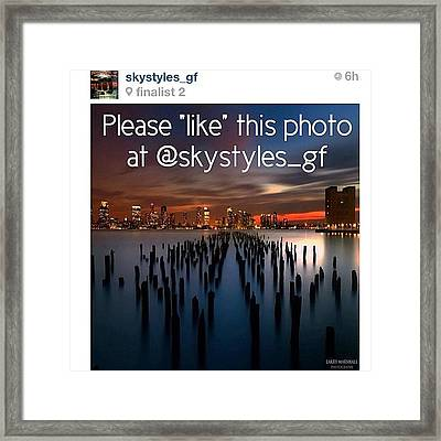 Friends, My Photo Is In The Framed Print by Larry Marshall