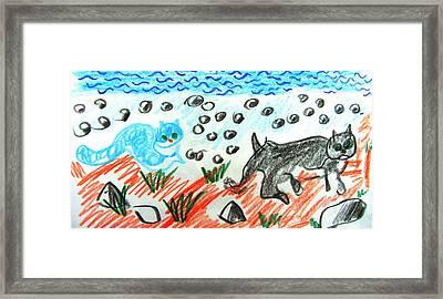 Friends On The Beach Framed Print by Anita Dale Livaditis
