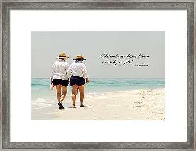 Framed Print featuring the photograph Friends by Rosemary Aubut