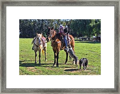 Friends Framed Print by Tommy Anderson