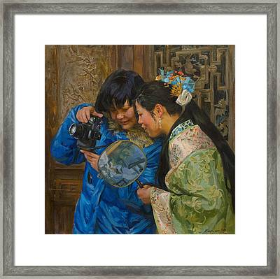 Friends Framed Print by Victoria Kharchenko