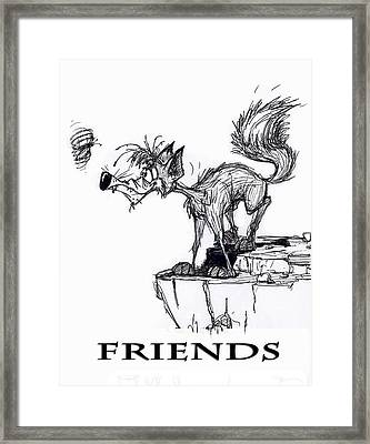 Friends Framed Print by Wayne Carlisi