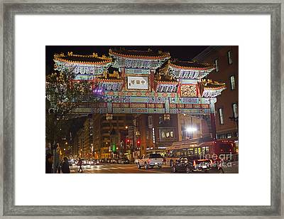 Friendship Archway In Chinatown Framed Print