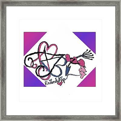 Friendship Framed Print by Becky Sterling