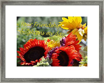 Friendship Flowers Framed Print