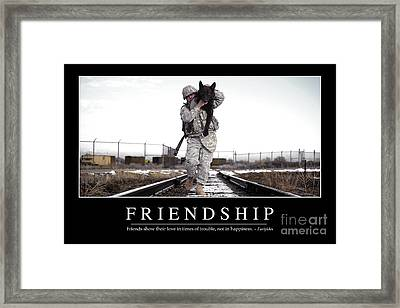 Friendship Inspirational Quote Framed Print by Stocktrek Images