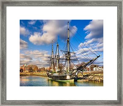 Friendship Of Salem At Harbor Framed Print